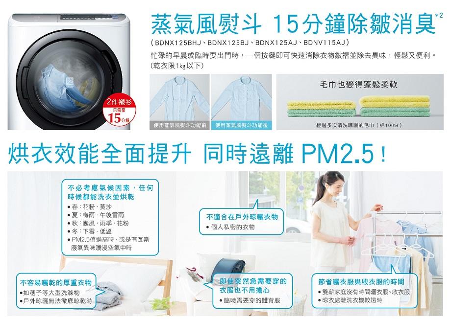 獨創【蒸氣風熨斗】,15分鐘有效除皺消臭 遠離PM2.5