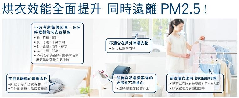 烘衣能效再提升 遠離PM2.5
