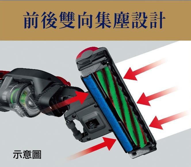 電動自走吸頭 雙向寬幅集塵設計
