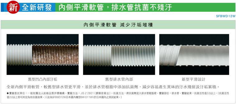 全新研發內側平滑軟管 排水管抗菌不殘汙